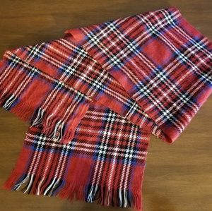 Accessories - Wide Plaid Scarf